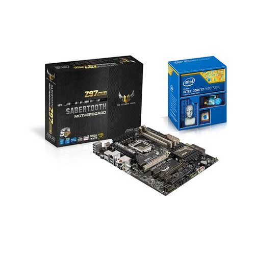 ASUS SABERTOOTH Z97 MARK 2 MOBO With Intel Core i7 4790k CPU