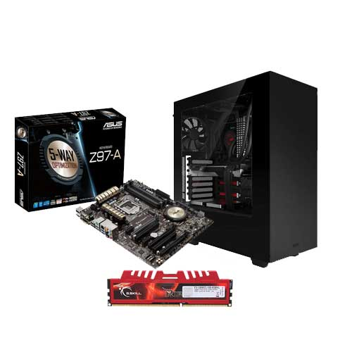 ASUS Z97-A Socket MOBO + GSKILL 8GB RAM + NZXT Sources S340 Black Cabinet