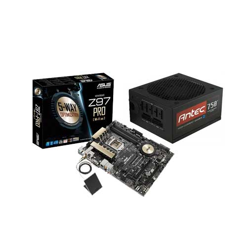 ASUS Z97-PRO Wi-Fi ac MOBO with Antec HCG 750M SMPS