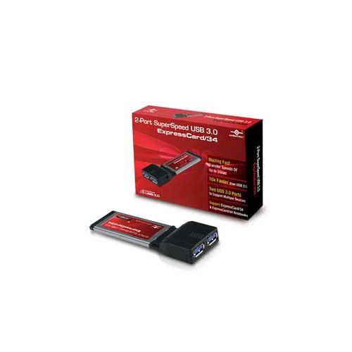 Vantec UGT-UC312CB 2-Port USB 3.0 ExpressCard 34