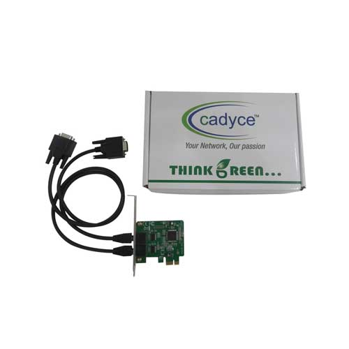 CADYCE .2-Port RS-232 low profile PCI Express Card