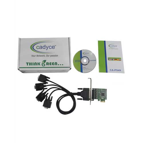 CADYCE 4-Port RS-232 low profile PCI Express Card