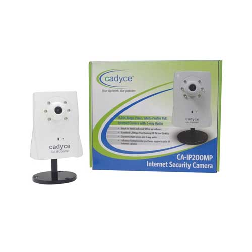 CADYCE Megapixel 1.3MP PoE Day / Night Internet Camera with 2-Way Audio