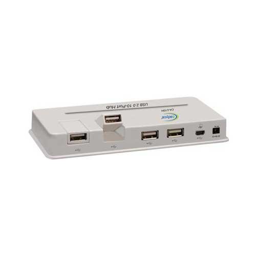 CADYCE USB 2.0 10-port Hub With Power Adapter