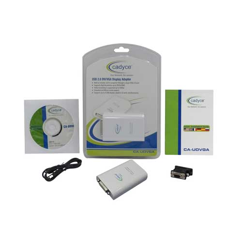 CADYCE USB 2.0 DVI/VGA Display Adapter