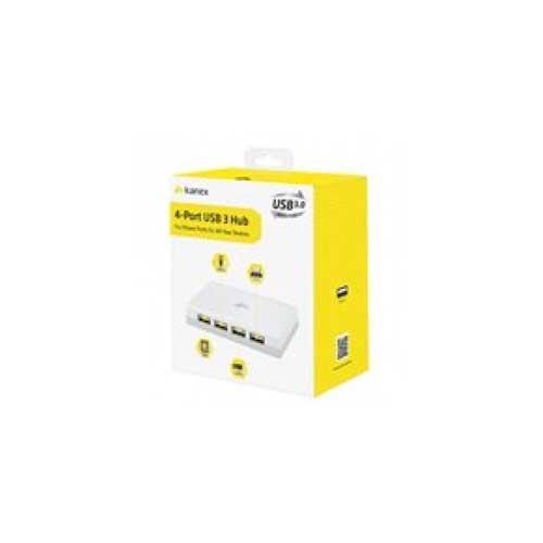 Kanex 4-Port USB 3.0 Hub White USB3HUB4X