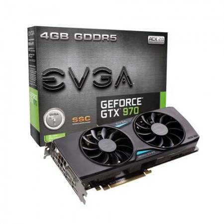 EVGA GTX970 SSC 04G-P4-3975-KR Graphic Card