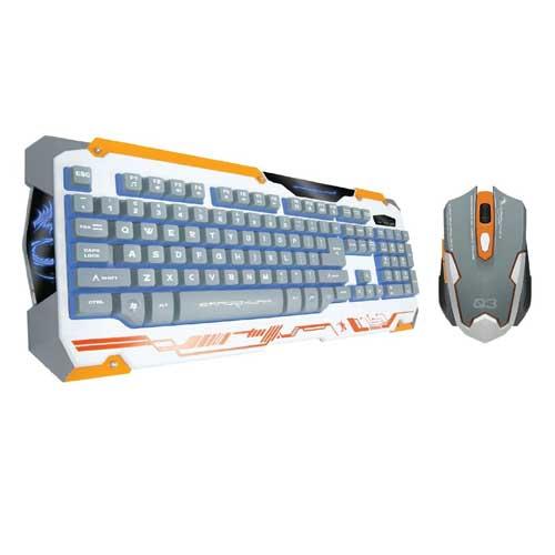 Dragon War GKM-001 White Sencaic Professional Gaming Keyboard