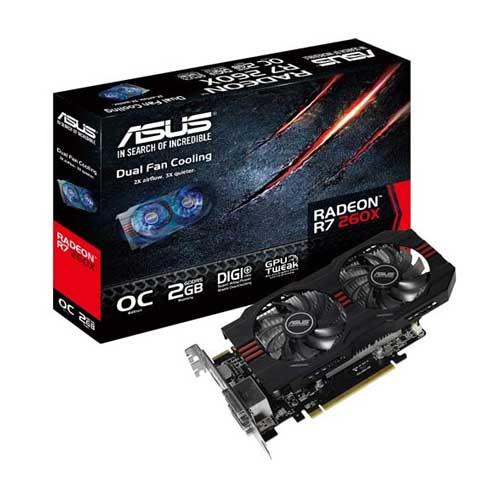 ASUS R7 260X 2GB OC Graphic Card R7260X-OC-2GD5