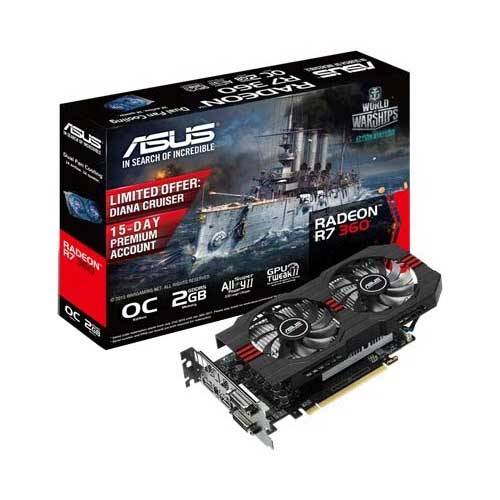ASUS R7 360 2GB OC Graphic Card R7360-OC-2GD5