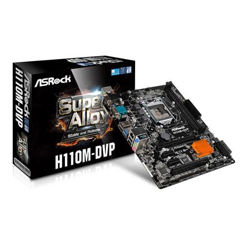 ASRock H110M-DVP Intel LGA 1151 micro-ATX Motherboard