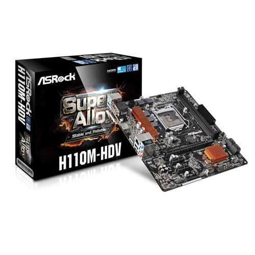ASRock H110M-HDV Intel LGA 1151 Micro ATX Motherboard
