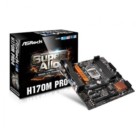 ASRock H170M Pro4 LGA 1151 Intel H170 Micro ATX Motherboard