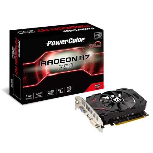 PowerColor Radeon R7 250 1GB GDDR5 V3 OC Graphic Card