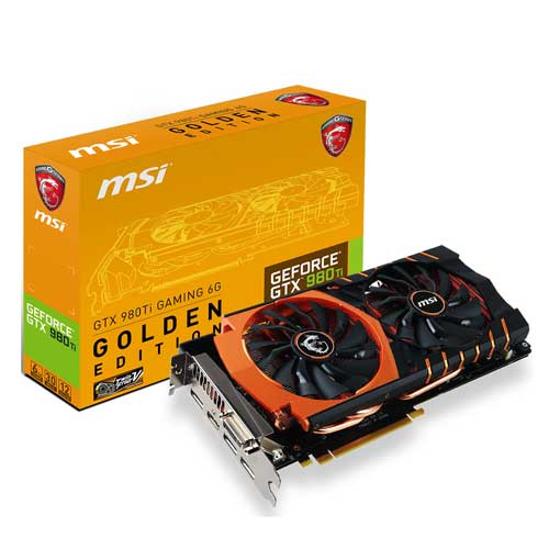 MSI GeForce GTX 980TI GAMING 6G GOLDEN EDITION 6GB Graphic Card