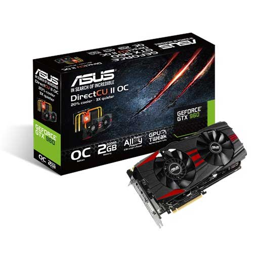 ASUS GTX 960 GTX960-DC2OC-2GD5-BLACK 2GB Graphic Card