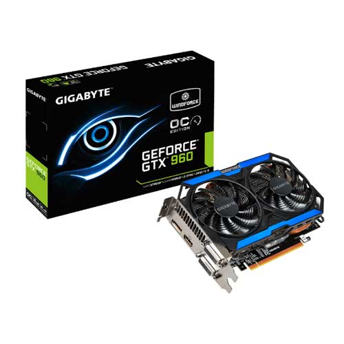Gigabyte GTX 960 GV-N960OC-2GD 2GB 128-Bit GDDR5 Graphic Card