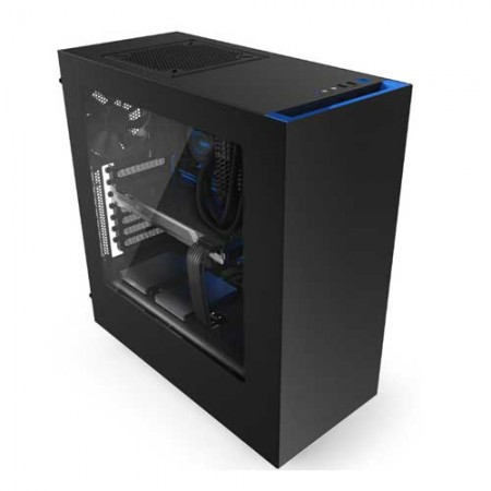 NZXT-S340-Matte-Black-Blue-Steel-ATX-Mid-Tower-Case