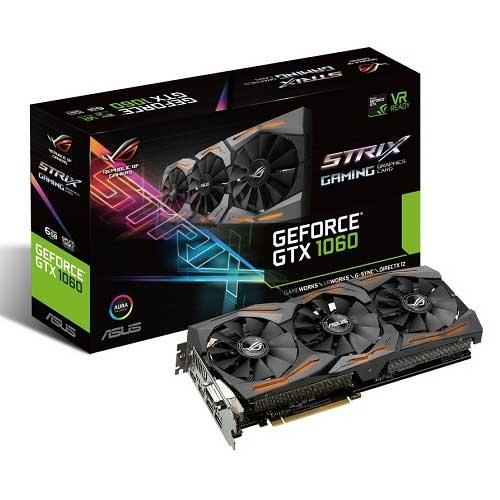 T. Video ASUS Nvidia Strix GTX1060 6GB GDDR5 STRIX-GTX1060-6G-GAMING