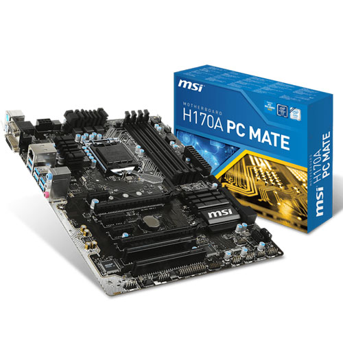 MSI H170A PC MATE LGA 1151 Motherboard