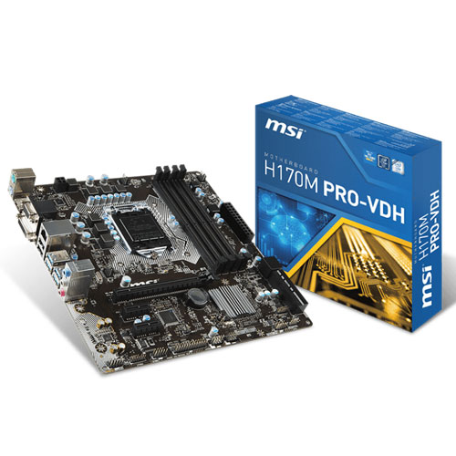 MSI H170M PRO-VDH LGA 1151 Motherboard