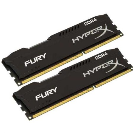 HyperX FURY Series 16GB 2400MHz DDR4 Memory HX424C15FBK2/16