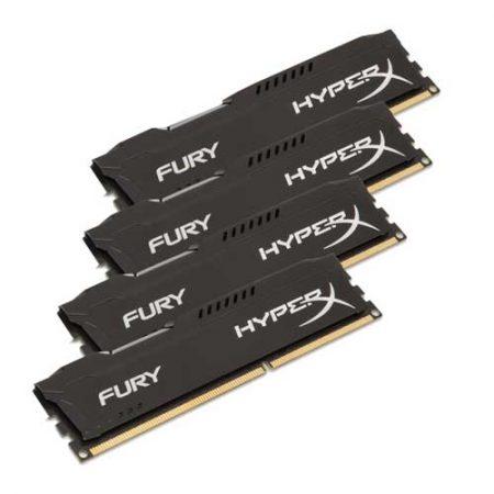HyperX FURY Series 64GB 2400MHz DDR4 Memory HX424C15FBK4/64