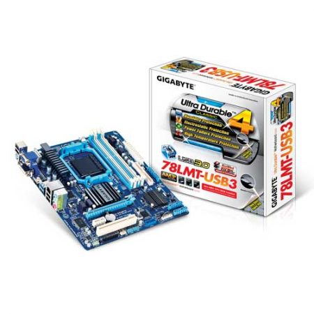 Gigabyte GA-78LMT-USB3 Socket AM3 Motherboard
