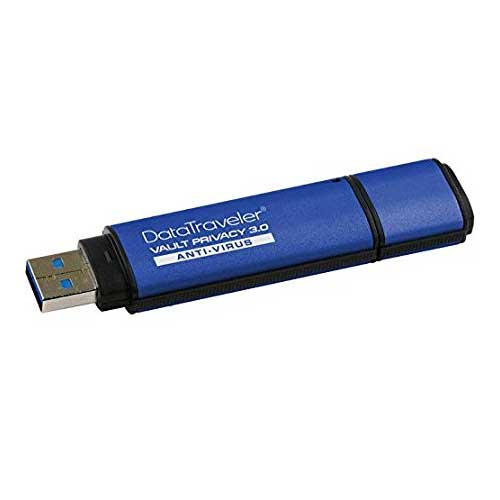 Kingston DataTraveler Vault Privacy 8GB 3.0 Anti Virus Flash Drive DTVP30AV/8GB