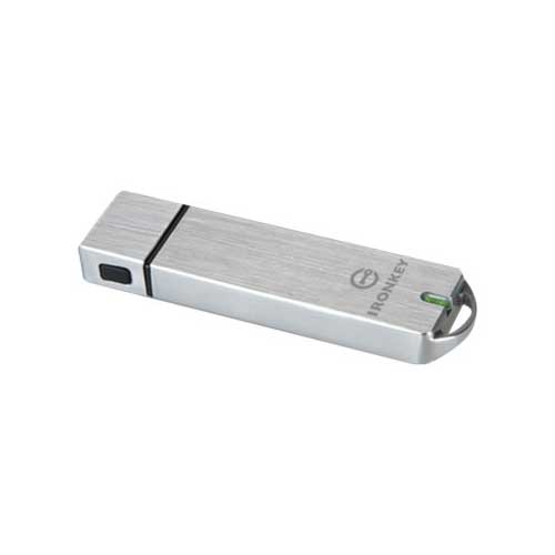 Kingston IronKey Basic S1000 128GB Encrypted Flash Drive IKS1000B/128GB