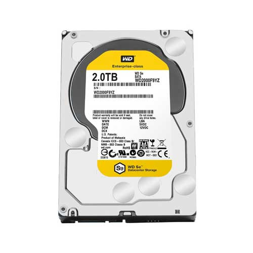 "Western Digital 2TB 3.5"" 7200 RPM Desktop Datacenter Gold Internal Hard Drive WD2004FBYZ"