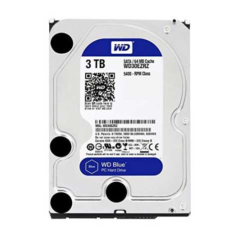 "Western Digital 3TB 3.5"" 5400 RPM Desktop Internal Hard Drive WD30EZRZ"