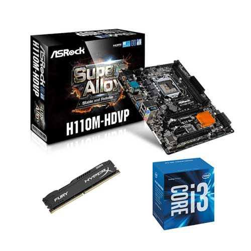 Buy Online Asrock H110m Hdvp Intel Core I3 6098p Processor