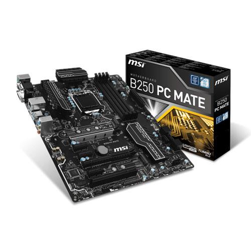 MSI B250 PC MATE Socket 1151 Intel B250 Motherboard