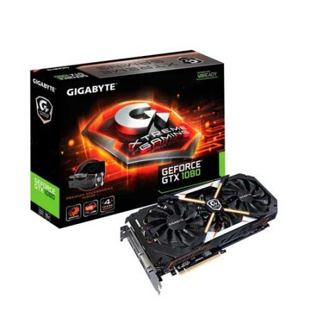 Gigabyte GTX 1080 Xtreme Gaming Premium Pack 8G Graphic Card GV-N1080WF3OC-8GD