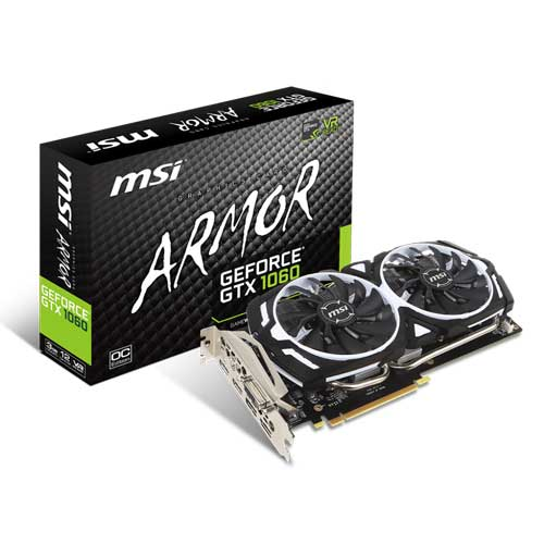 MSI GTX 1060 ARMOR 3G OCV1 3GB Graphic Card