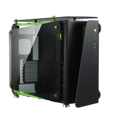 JONSBO-MOD1-Black-Green-w-Tempered-Glass-Side-Panel-Mid-Tower-Cabinet