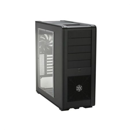 SilverStone Fortress Series FT01-BW Black Aluminum ATX Mid Tower Uni-body Computer Case