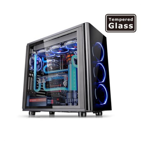 Thermaltake View 31 Tempered Glass Edition Mid Tower Chassis CA-1H8-00M1WN-00