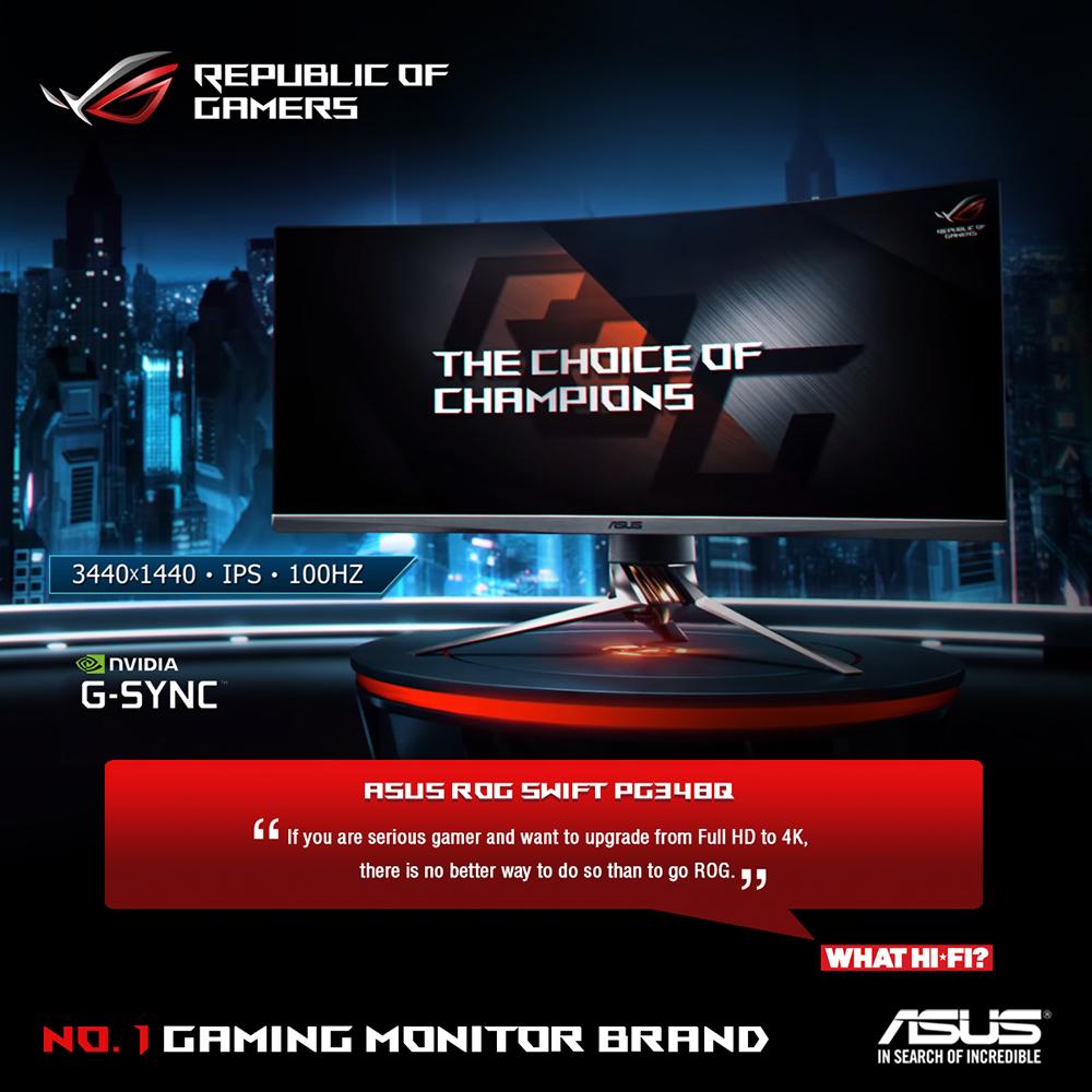 Buy Online Asus Rog Pg348q Black 34 Curved Ips G Sync 219 Wqhd Monitor Vc279h Eye Care Frameless 27 Full Hd Speaker Tuv Lightbox