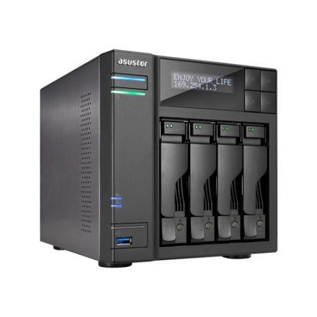 Asustor 4-Bay NAS Server with Intel Celeron Processor & 4GB Dual-Channel Memory