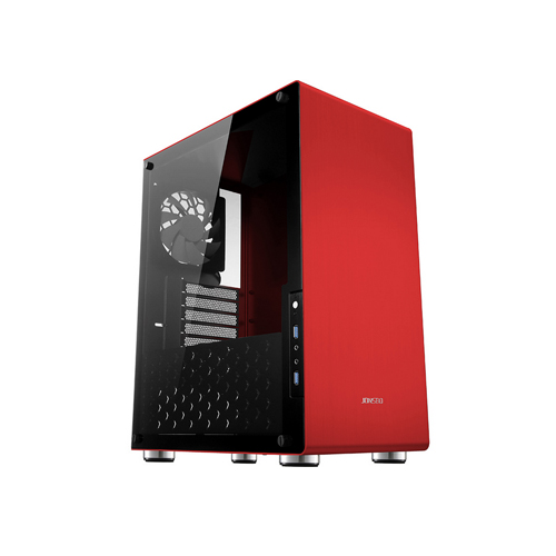 Buy Online Jonsbo U4 Red Pc Case With 2 Led Fans Price