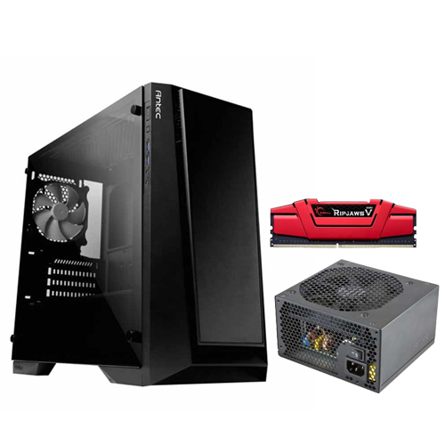Buy Online | ANTEC P6 Cabinet + ANTEC VP450P 450W SMPS + G.SKILL 8GB ...