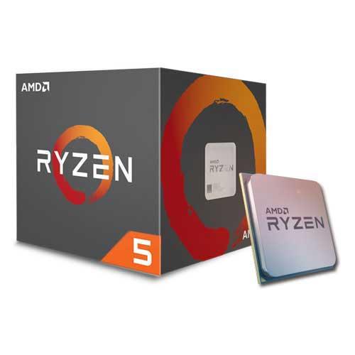 AMD RYZEN 5 1600 3 2 GHz Socket AM4 Processor with Wraith Spire 65W cooler