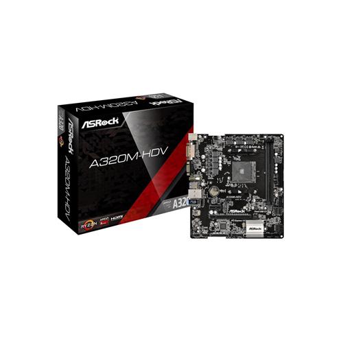 ASRock A320M-HDV AM4 Micro ATX AMD Motherboard