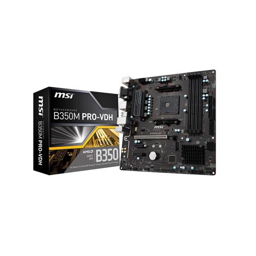 MSI B350M PRO-VDH AM4 AMD Micro ATX AMD Motherboard